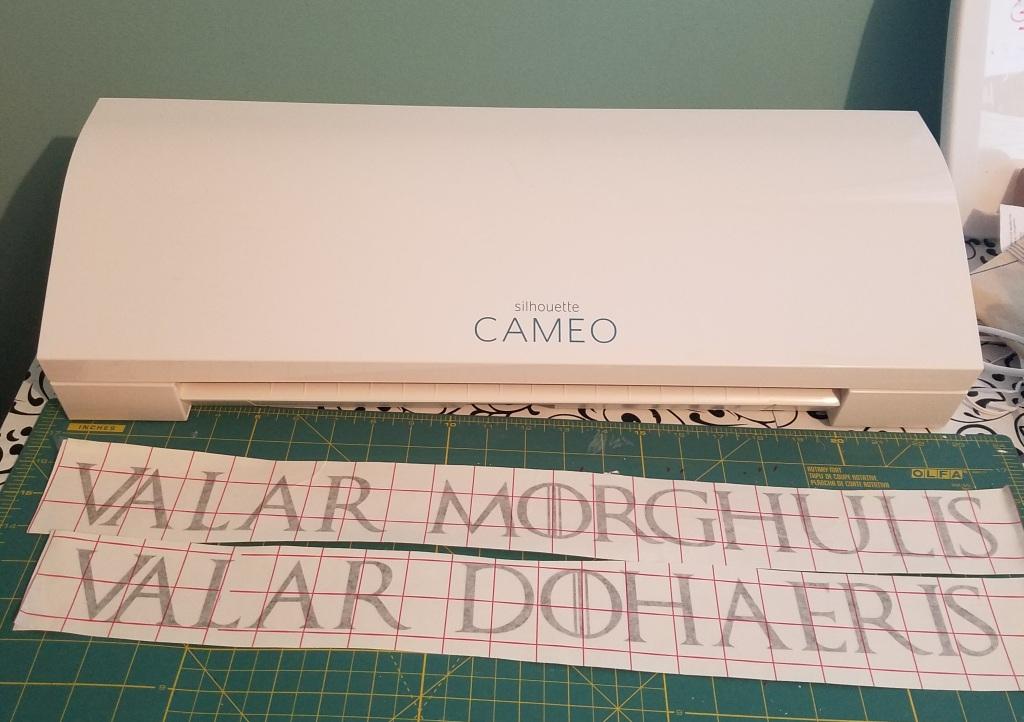 Valar Morghulis vinyl decal letters