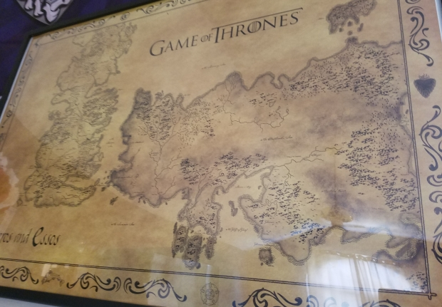 Game of Thrones map Westeros Essos