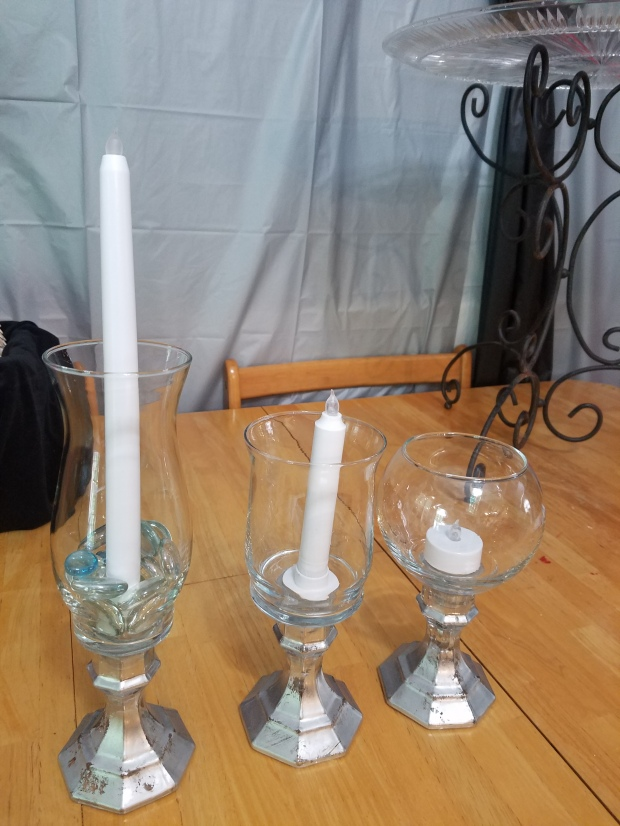 DIY candle holders finished product
