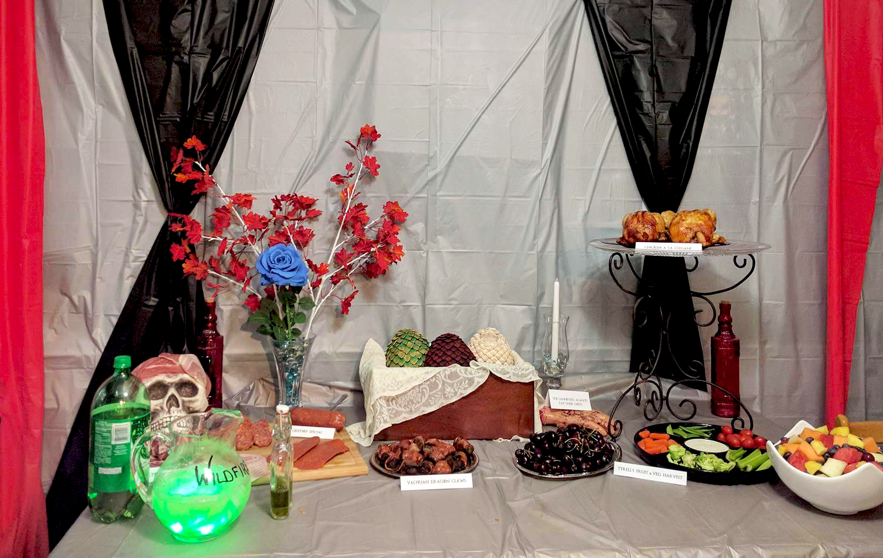 Game of Thrones party table setup